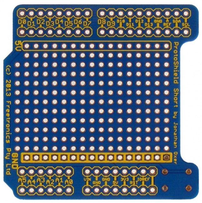 Freetronics ProtoShield Short for Arduino CE04495 Freetronics Australia (Image 3)
