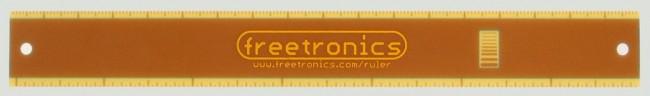Freetronics 180mm Electronics Ruler CE04514 Freetronics Australia (Image 3)