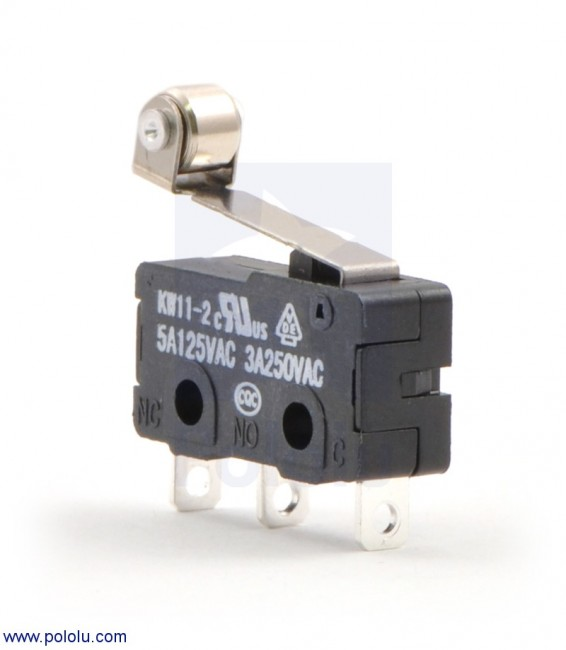 Snap-Action Switch with 16.3mm Roller Lever: 3-Pin, SPDT, 5A POLOLU-1404 Pololu Australia - Express Delivery Australia Wide (Feature image)