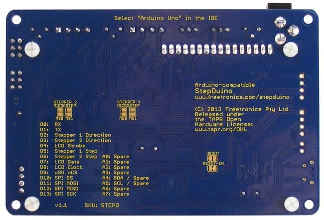 Freetronics StepDuino Stepper Motor Controller CE04573 Freetronics Australia (Image 3)