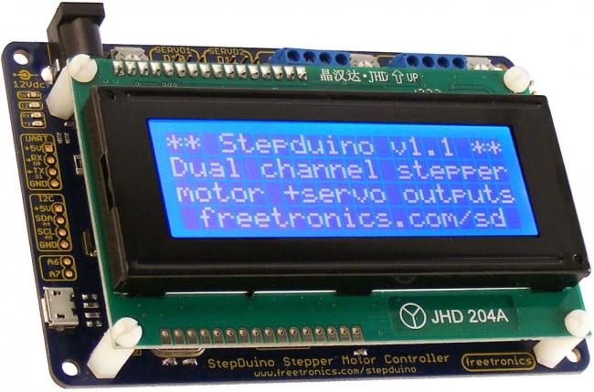 Freetronics StepDuino Stepper Motor Controller CE04573 Freetronics Australia (Feature image)