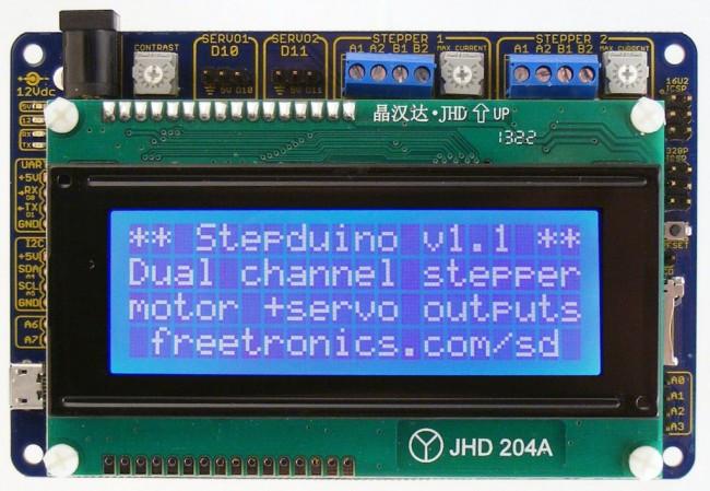 Freetronics StepDuino Stepper Motor Controller CE04573 Freetronics Australia (Image 2)