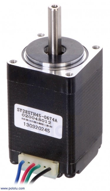 Stepper Motor: Bipolar, 200 Steps/Rev, 28×45mm, 4.5V, 0.67 A/Phase POLOLU-1206 Pololu Australia - Express Delivery Australia Wide (Feature image)