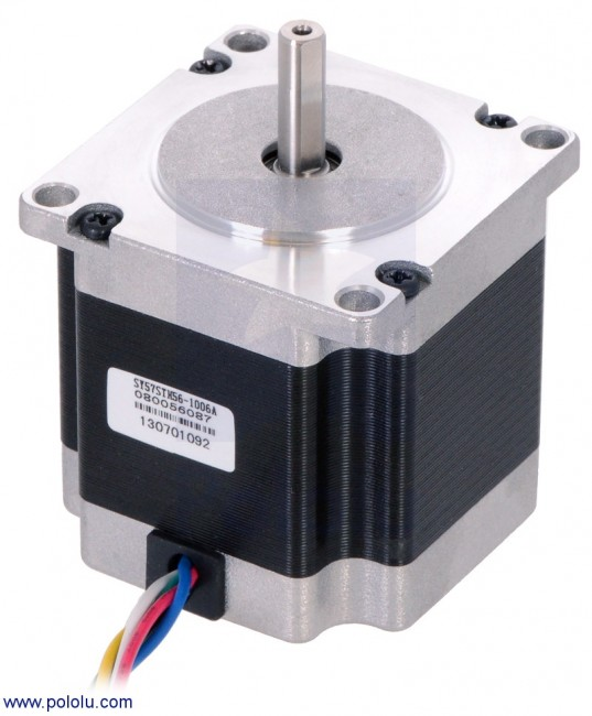 Stepper Motor: Unipolar/Bipolar, 200 Steps/Rev, 57×56mm, 7.4V, 1 A/Phase POLOLU-1472 Pololu Australia - Express Delivery Australia Wide (Feature image)