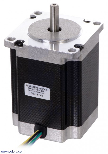 Stepper Motor: Unipolar/Bipolar, 200 Steps/Rev, 57×76mm, 8.6V, 1 A/Phase POLOLU-1477 Pololu Australia - Express Delivery Australia Wide (Feature image)