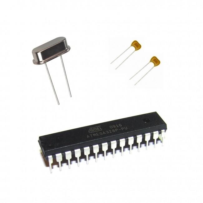Atmel ATmega328P-PU + Duemilanove Bootloader for Arduino + XTAL+ 22pF Capacitors 000-ATMEGA328+DUE+CAPS  (Feature image)