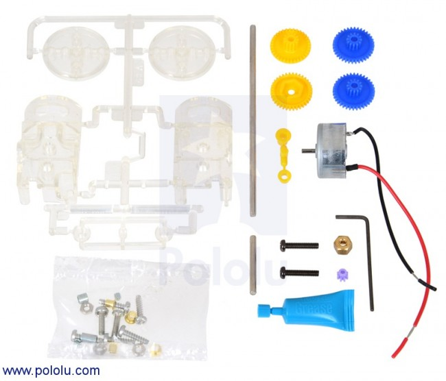 Tamiya 70203 Low-Current Motor Gearbox (3-Speed) POLOLU-2196 Pololu in Australia - Express Delivery Australia Wide (Image 2)