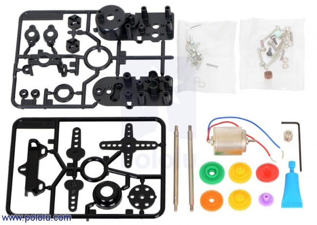 Tamiya 72007 4-Speed High-Power Gearbox Kit POLOLU-2390 Pololu Australia - Express Delivery Australia Wide (Image 2)