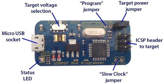 Freetronics USBasp ICSP Programmer for AVR / Arduino CE04564 Freetronics Australia (Image 5)