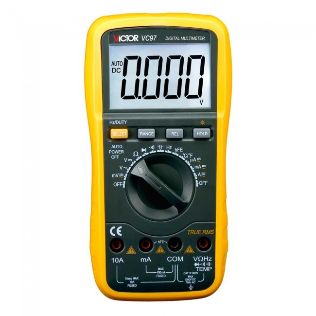 Victor VC97 Auto Range Digital Multimeter DMM CE05321  (Feature image)