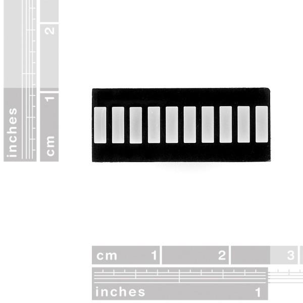 10 Segment LED Bar Graph - Yellow COM-09936 Sparkfun Australia - Express Delivery Australia Wide (Image 2)