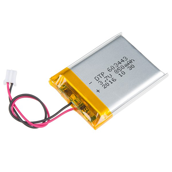 Lithium Ion Battery - 850mAh PRT-13854 Sparkfun Australia - Express Delivery Australia Wide (Image 1)