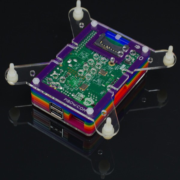 Pibow VESA mount for Raspberry Pi CE05120 Pimoroni Australia (Image 2)
