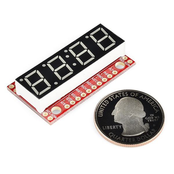 7-Segment Serial Display - Kelly Green COM-11440 Sparkfun Australia - Express Delivery Australia Wide (Image 3)
