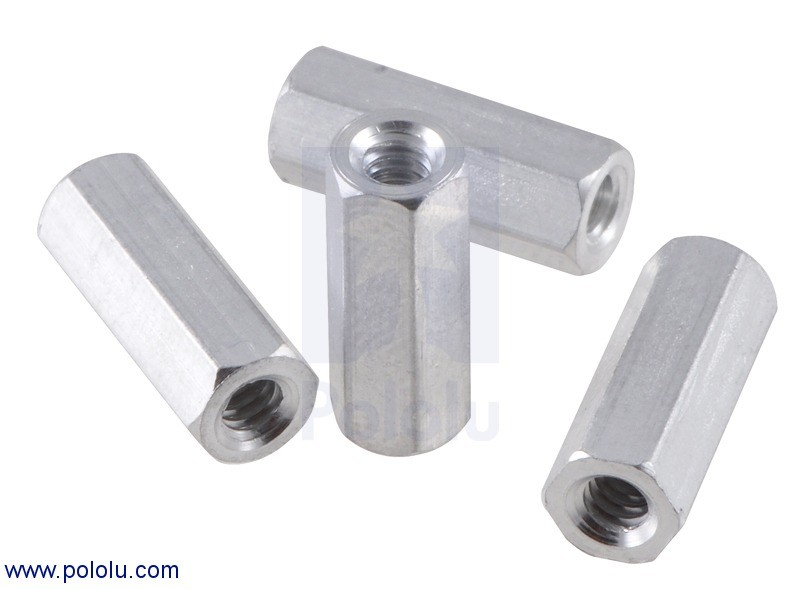 "Aluminum Standoff: 1/2"" Length, 4-40 Thread, F-F (4-Pack) POLOLU-2091 Pololu in Australia - Express Delivery Australia Wide (Feature image)"