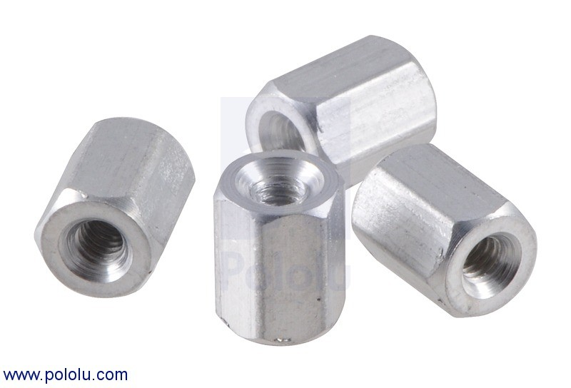 "Aluminum Standoff: 1/4"" Length, 2-56 Thread, F-F (4-Pack) POLOLU-2082 Pololu in Australia - Express Delivery Australia Wide (Feature image)"