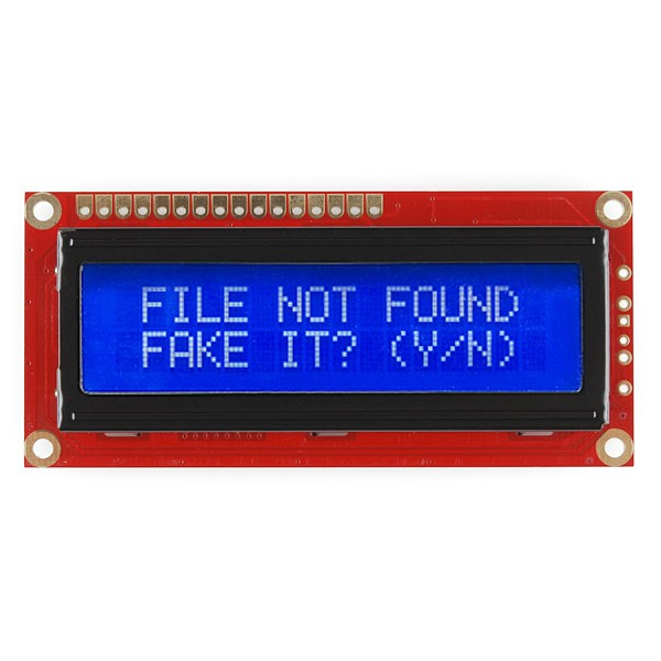 Basic 16x2 Character LCD - Yellow on Blue 5V LCD-00790 Sparkfun Australia - Express Delivery Australia Wide (Image 4)