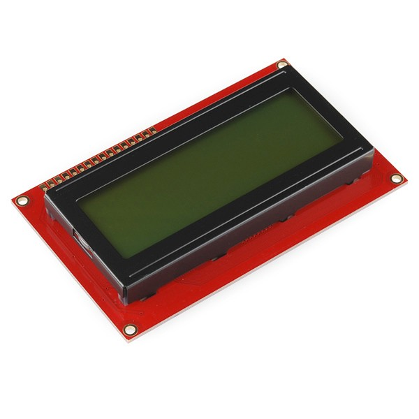 Basic 20x4 Character LCD - Black on Green 5V LCD-00256 Sparkfun Australia - Express Delivery Australia Wide (Feature image)