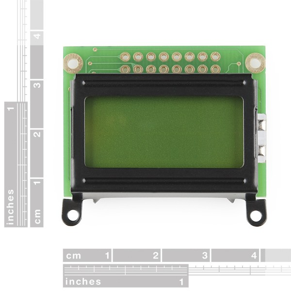 Basic 8x2 Character LCD - Black on Green 5V LCD-11122 Sparkfun Australia - Express Delivery Australia Wide (Image 2)