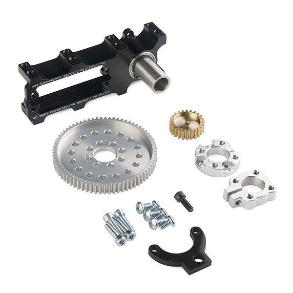 Channel Mount Gearbox Kit - Continuous Rotation (3.8:1 Ratio) ROB-12606 Sparkfun Australia - Express Delivery Australia Wide (Feature image)