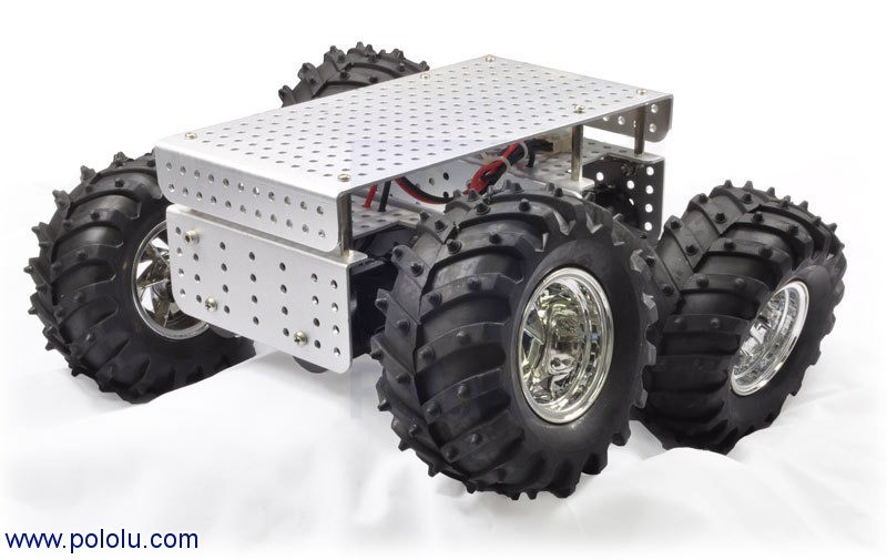 Dagu Wild Thumper 4WD All-Terrain Chassis, Silver, 34:1 POLOLU-1564 Pololu Australia - Express Delivery Australia Wide (Feature image)