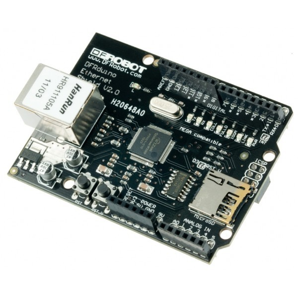 DFRduino Ethernet Shield (Support Mega and Micro SD) For Arduino DFR0125 DFRobot Australia - Express Post Australia Wide (Feature image)