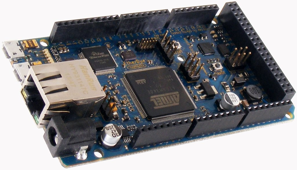 Freetronics EtherDue (100% Arduino Due compatible with onboard Ethernet) CE04508 Freetronics Australia (Feature image)