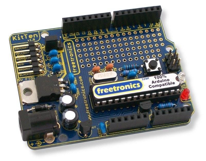 Freetronics KitTen (Arduino-compatible kit) CE04502 Freetronics Australia (Feature image)