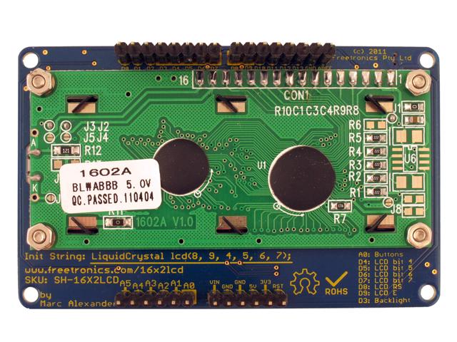 Freetronics LCD & Keypad Shield CE04490 Freetronics Australia (Image 4)