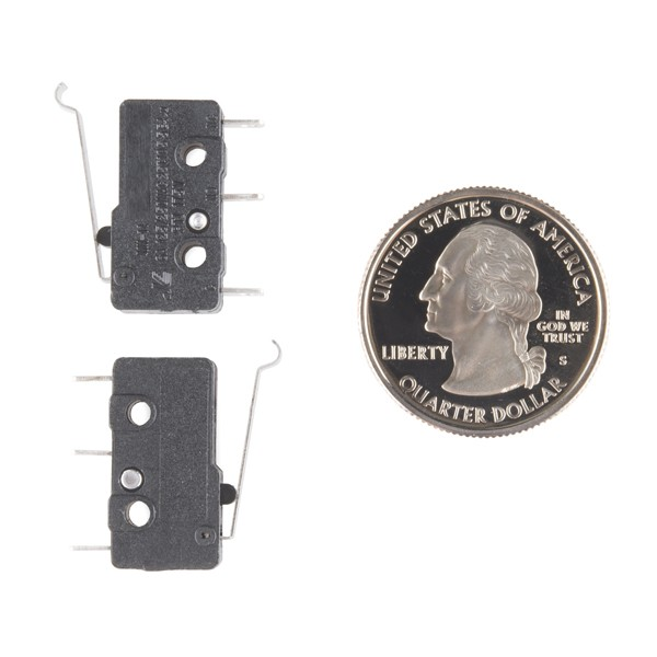 Mini Microswitch - SPDT (Offset Lever, 2-Pack) COM-13014 Sparkfun Australia - Express Delivery Australia Wide (Image 2)