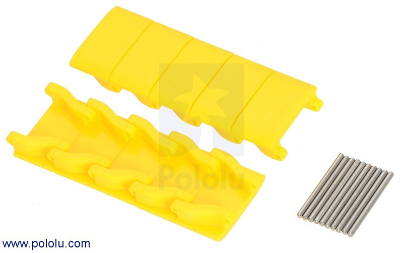 Miniature Track Link and Pin - Yellow (10-Pack) POLOLU-2076 Pololu Australia - Express Delivery Australia Wide (Feature image)