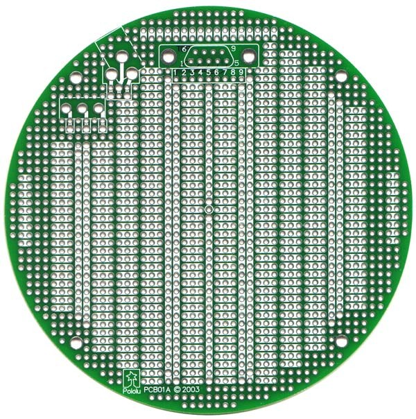 "PCB01A 5"" Round Prototyping PCB POLOLU-330 Pololu Australia - Express Delivery Australia Wide (Feature image)"