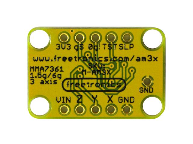 Freetronics 3-Axis Accelerometer Module CE04484 Freetronics Australia (Image 2)