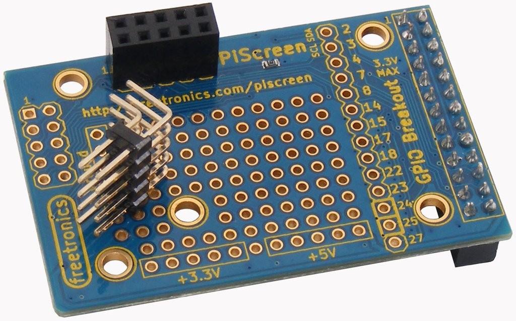 Freetronics PiScreen OLED adapter for Raspberry Pi CE04507 Freetronics Australia (Feature image)