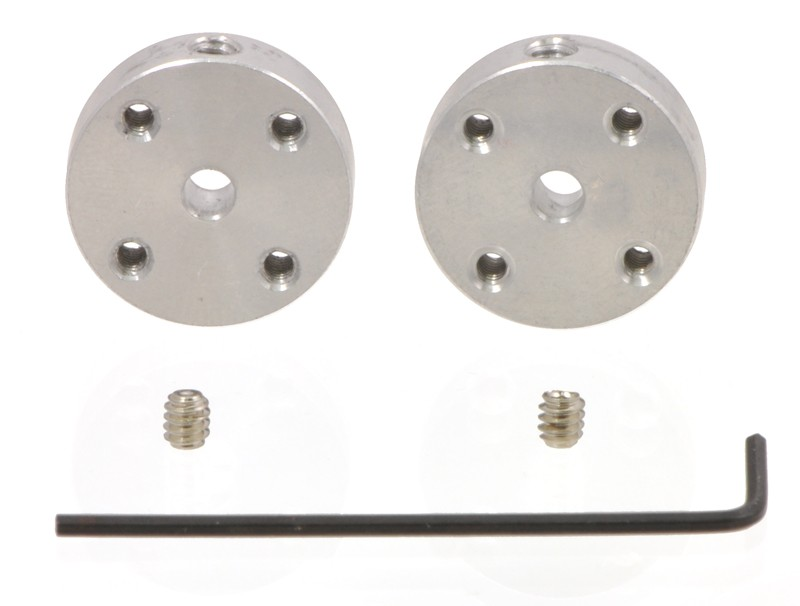 Pololu Universal Aluminum Mounting Hub for 3mm Shaft, #2-56 Holes (2-Pack) POLOLU-1079 Pololu Australia - Express Delivery Australia Wide (Feature image)