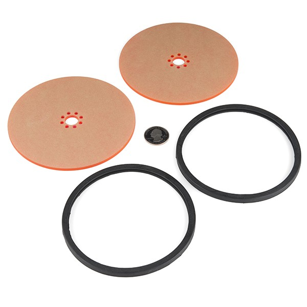 "Precision Disc Wheel - 5"" (Clear Pink) ROB-12552 Sparkfun Australia - Express Delivery Australia Wide (Image 2)"