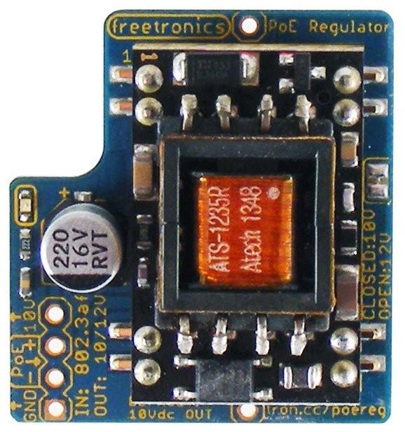 Freetronics Power-over-Ethernet Regulator 802.3af CE04499 Freetronics Australia (Feature image)