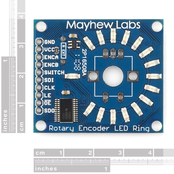Rotary Encoder LED Ring Breakout Board - Green COM-10409 Sparkfun Australia - Express Delivery Australia Wide (Image 2)