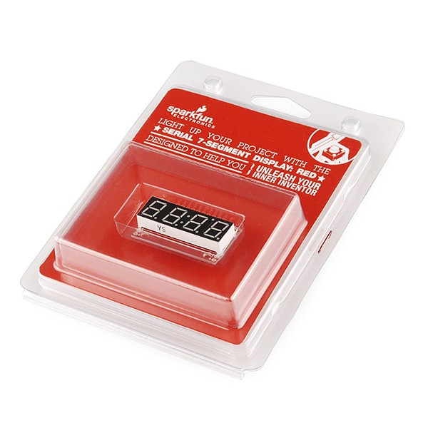 Serial 7-Segment Display (Red) - Retail RTL-11386 Sparkfun Australia - Express Delivery Australia Wide (Feature image)