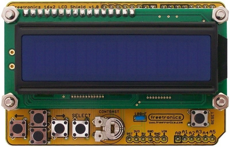 Freetronics 16x2 LCD Shield Kit CE04540 Freetronics Australia (Feature image)