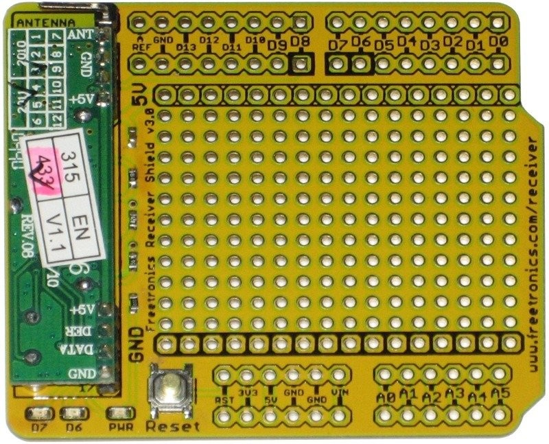 Freetronics Receiver Shield for Arduino: 315MHz / 433MHz CE04493 Freetronics Australia (Feature image)