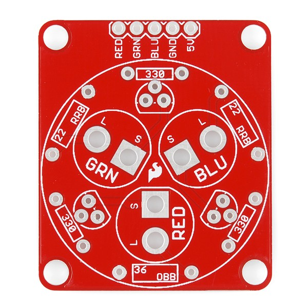 Tri-Color LED Breakout Kit KIT-11588 Sparkfun Australia - Express Delivery Australia Wide (Image 2)