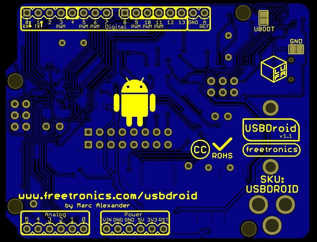Freetronics USBDroid (Arduino Uno compatible with onboard Android/USB Host) CE04488 Freetronics Australia (Image 7)