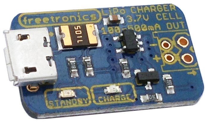 Freetronics USB LiPo Charger CE04561 Freetronics Australia (Feature image)
