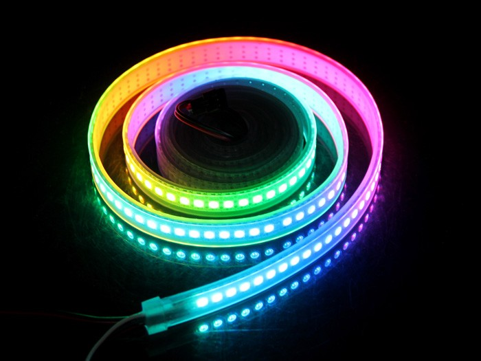 quality design 9d52e 7e965 WS2812B Digital RGB LED Waterproof Flexi-Strip 144 LED&meter - 2 meter  (Seeed Studio)