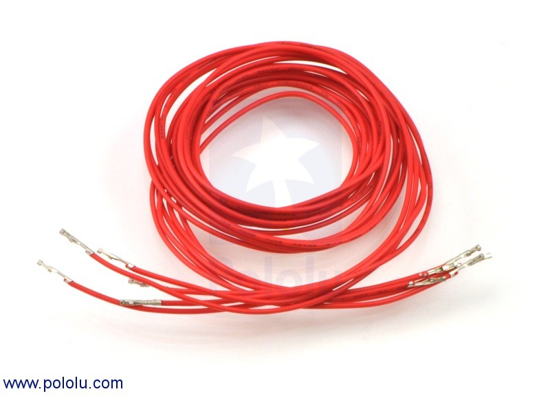 "Wires with Pre-crimped Terminals 5-Pack F-F 36"" Red POLOLU-2012 Pololu Australia - Express Delivery Australia Wide (Feature image)"
