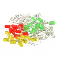 5mm LEDs 50 pcs Pack 10x Red Green Blue Yellow White CE05103