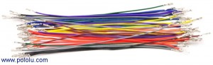 "Wires with Pre-crimped Terminals 50-Piece Rainbow Assortment F-F 6"" POLOLU-1800 Pololu in Australia - Express Delivery Australia Wide"