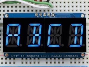 Quad Alphanumeric Display - Blue 0.54 Digits w/ I2C Backpack ADA1912 Adafruit Australia