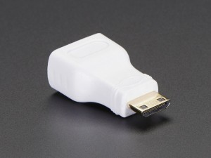 Mini HDMI Plug to Standard HDMI Jack Adapter ADA2819 Adafruit in Australia - Express Delivery Australia Wide